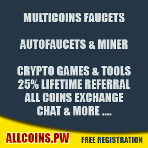 Allcoins.pw - Multicoins Faucets, AutoFaucets & Exchange!